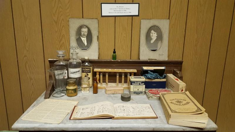 Part of the doctor's exhibit at the Derby Historical Museum