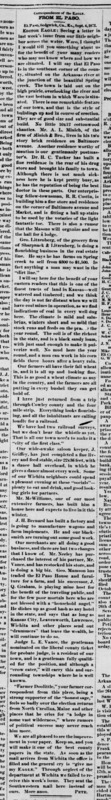 Wichita Weekly Eagle 1872-10-10 p2 (From El Paso column) full article.png