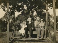 Conrad Glaser and John Siegrist with Beulah and Audine Austin<br /> circa 1921