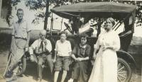 People at the Cherry farm<br /> circa 1919