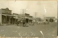 H. Jones General Store and George Sickler&#039;s Dry Goods<br /><br /> Baltimore Street<br /><br /> early 1900s