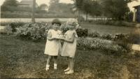 Maurine Mohr and her cousin Opal Stewart<br /> circa 1932