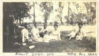 Glaser and Sargeant family members at a picnic<br /> 1918