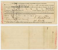 867 Evangelical Church German Insurance Company receipt June 28 1893 MAUMC (front and back).jpg