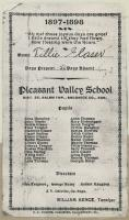 1897 -1898 School Year Attendance Sheet for Tillie Glaser