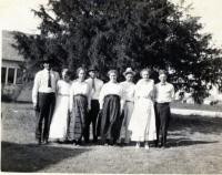 Children of Conrad and Mary Glaser with their spouses<br /> circa 1920s