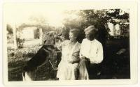 1884 Dr William Dixon and wife Catherine with their German shepard 1920s museum (photocopy).jpg
