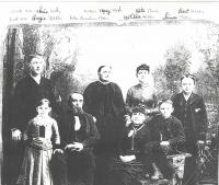 The family of Christian Mohr<br /> circa 1890s